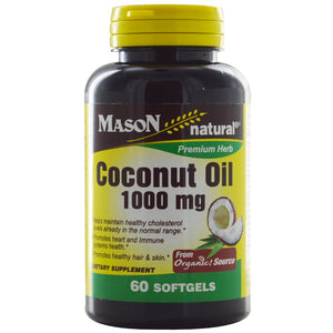 Mason Coconut Oil, 1,000 mg, 60 Softgels