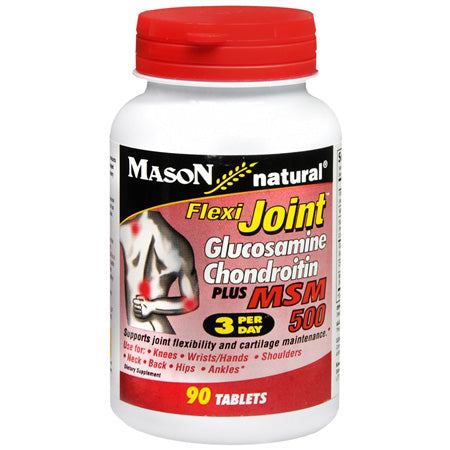 Mason Natural Flexi Joint Glucosamine Chondroitin Plus MSM 500, Tablets - 90ct