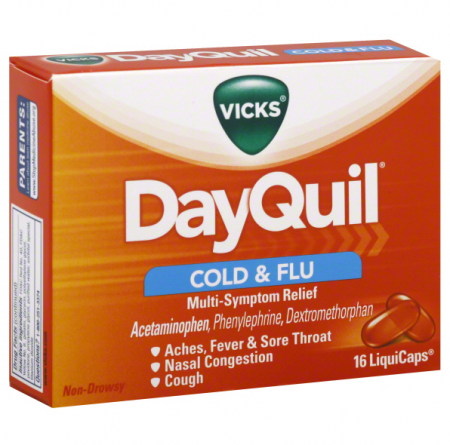 Vicks Dayquil Cold & Flu Relief 16 LiquiCaps