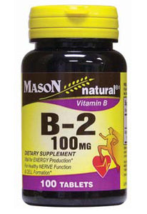 MASON NATURAL VITAMIN B-2, 100MG, 100C