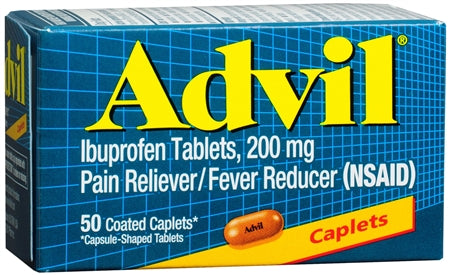 Advil 200 mg Coated Caplets (1 Pack)