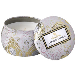 VOLUSPA - Panjore Lychee Petite Decorative Tin Candle