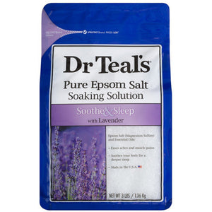 Dr Teal's Pure Epsom Salt Soaking Solution, Soothe & Sleep with Lavender