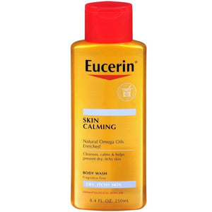 Eucerin Skin Calming Dry Skin Body Wash Oil Fragrance Free 8.40 oz (1 Pack)