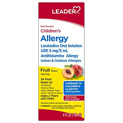 LEADER CHILDREN'S ALLERGY SOLUTION, FRUIT FLAVOR, 4OZ