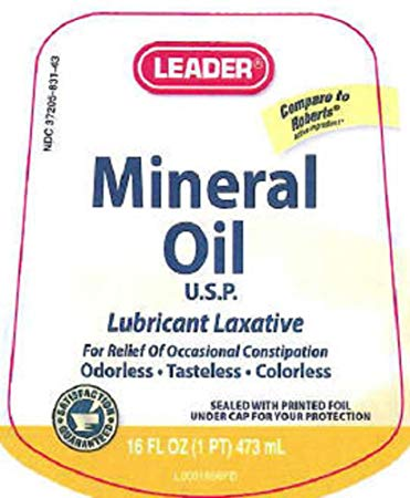 Leader Mineral Oil USP, 16 oz.