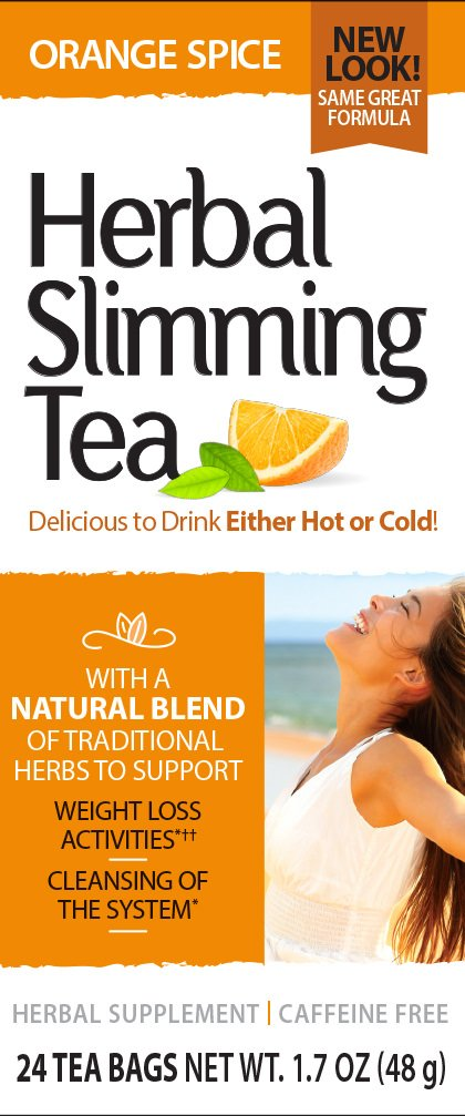 Slimming Tea, Orange Spice, 1.6 Ounce, 24 Count