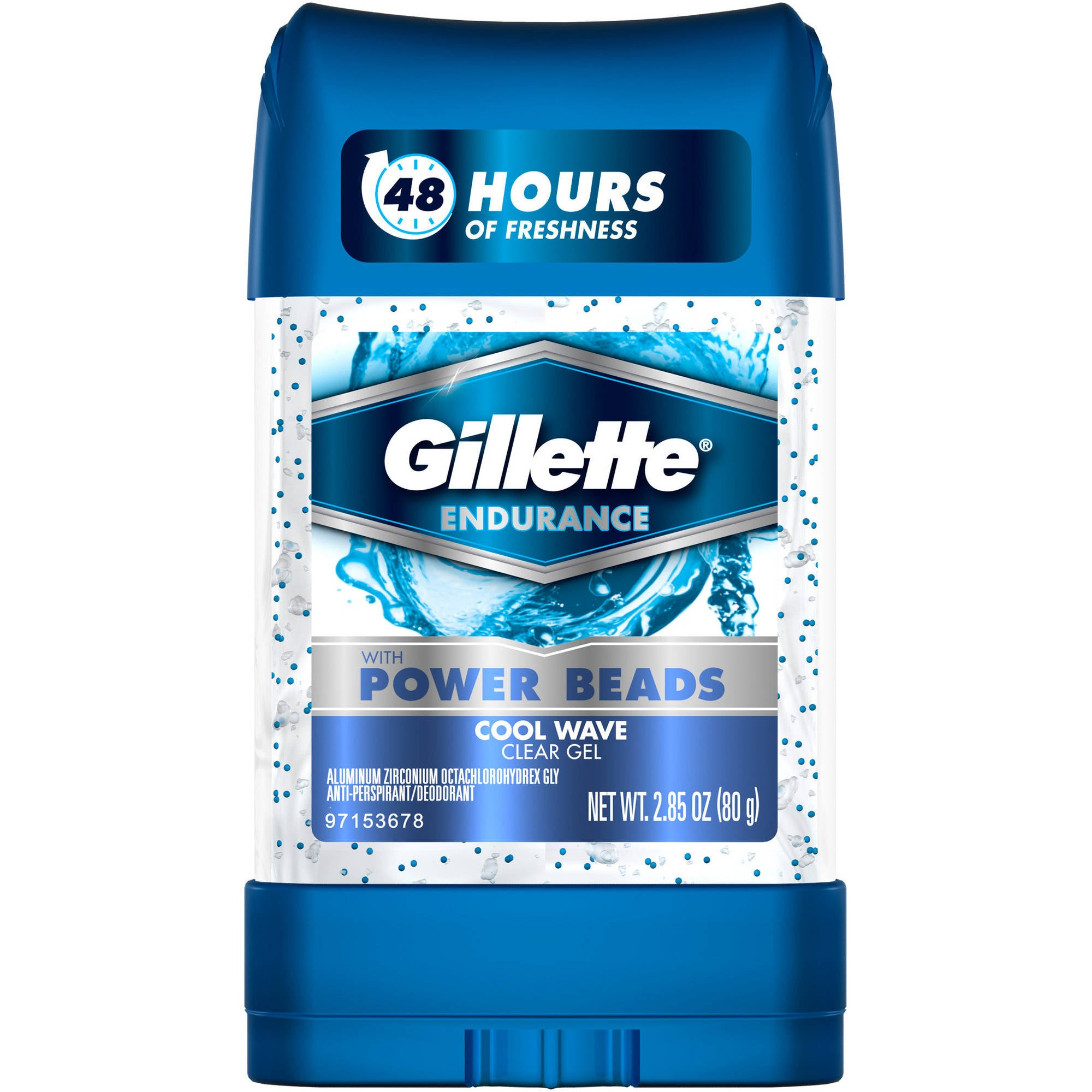 Gillette Clear Gel Power Beads Cool Wave Antiperspirant and Deodorant, 2.85 oz