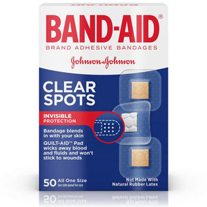 BAND-AID Clear Spots Bandages 50 ea (1 Pack)