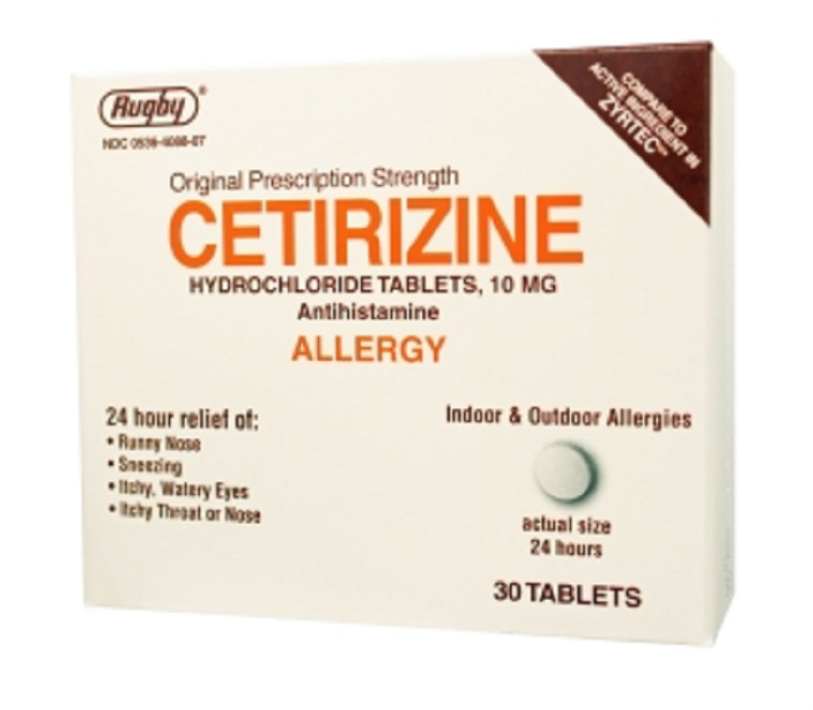 Rugby Cetirizine Hcl 10Mg  30 Tablets