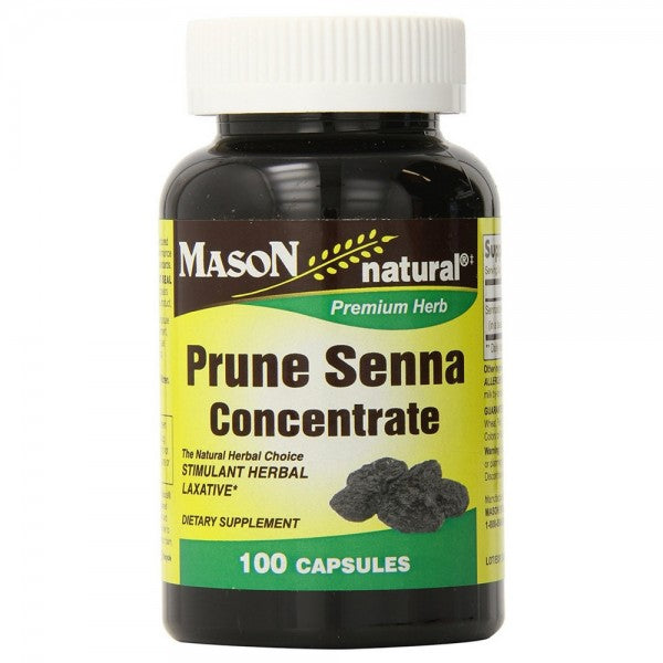 Mason Natural Prune Senna Concentrate Capsules 100 ea