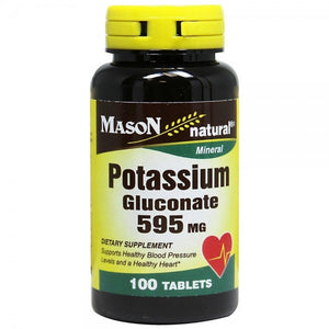 Mason Natural Potassium Gluconate 595 mg Tablets 100 ea