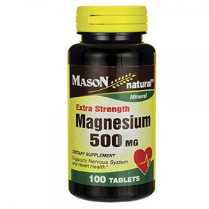Mason Natural Extra Strength Magnesium 500 mg Tablets 100 Tablets