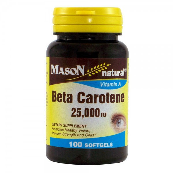 Mason Natural Beta Carotene 25,000 IU Softgels 100 ea