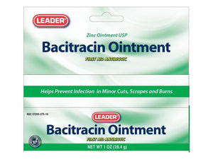 LEADER BACITRACIN FIRST AID OINTMENT, 1OZ