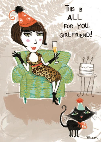 All For Your Girlfriend Birthday Card Olympia Plaza Gifts