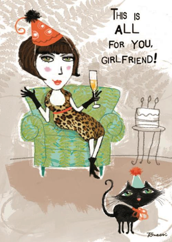 All For Your Girlfriend Birthday Card