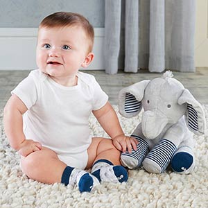 Louie the Elephant Plush Plus Socks for Baby