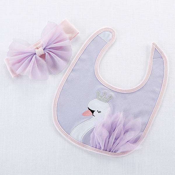 Swan Princess Bib and Headband Set