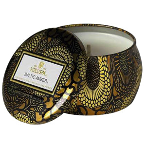 VOLUSPA - Baltic Amber Petite Decorative Tin Candle