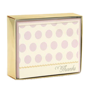 Blush Dots Boxed Cards