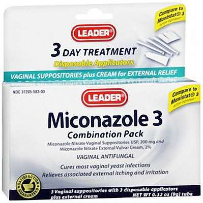 Leader Miconazole  3   Combination Pack