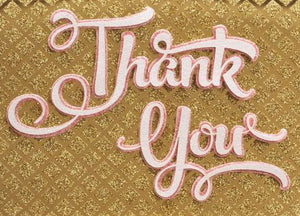 Calligraphic Thank You Card