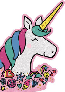 Glittery Unicorn Birthday Card
