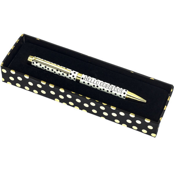 Gold Dots Fashion Pen