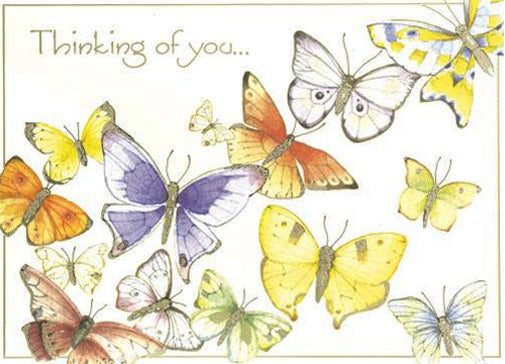 Group of Butterflies Card
