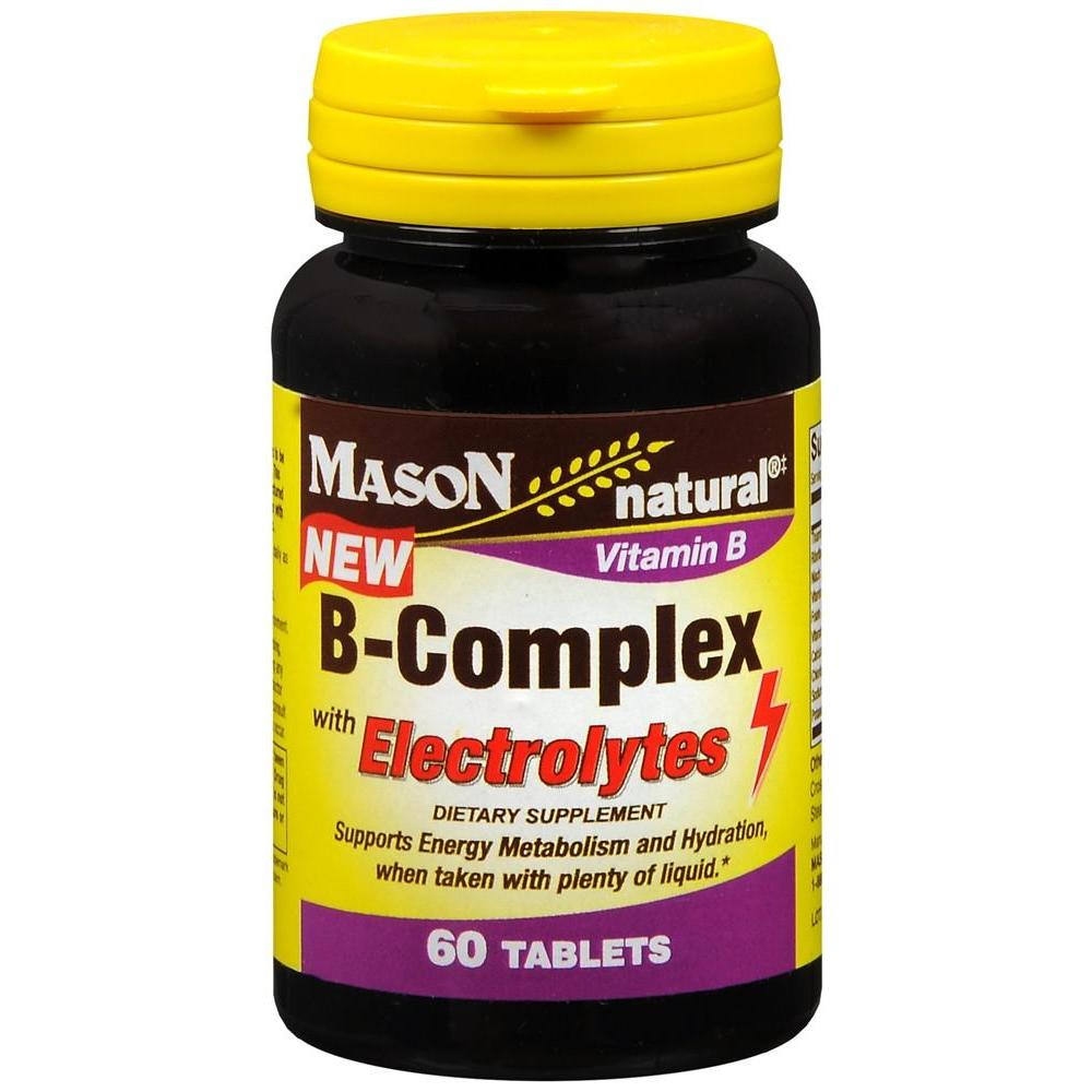 Mason Natural B-Complex with Electrolytes Dietary Supplement Tablets, 60 Tablets