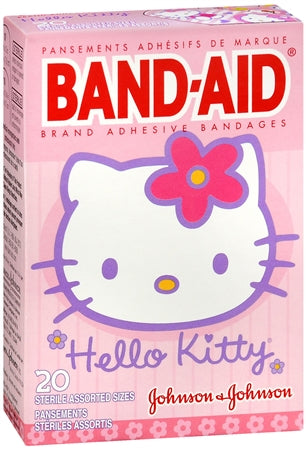 BAND-AID Bandages Hello Kitty Assorted Sizes 20 Each (1 Pack)