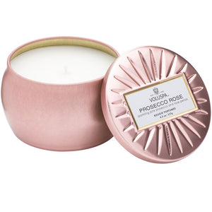 VOLUSPA - Prosecco Rose Petite Decorative Tin Candle