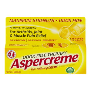 Aspercreme Odor Free Therapy Pain Relieving Creme, 3 oz