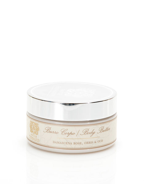 ANTICA FARMACISTA - 8 OZ BODY BUTTER DAMASCENA ROSE, ORRIS & OUD