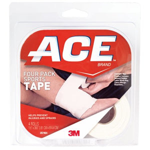 ACE Sports Tape 1.5 in x 10 yds, 4-Pack