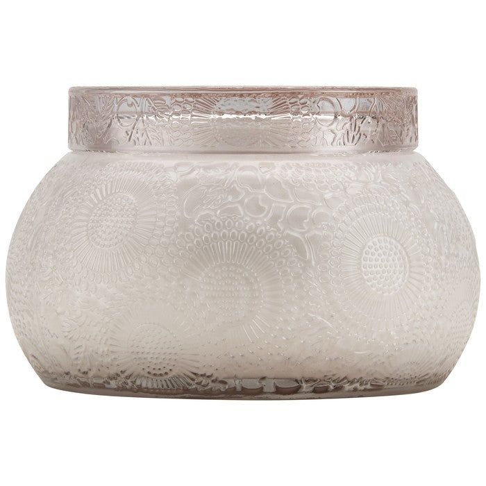 VOLUSPA - Panjore Lychee 2 Wick Embossed Glass Candle