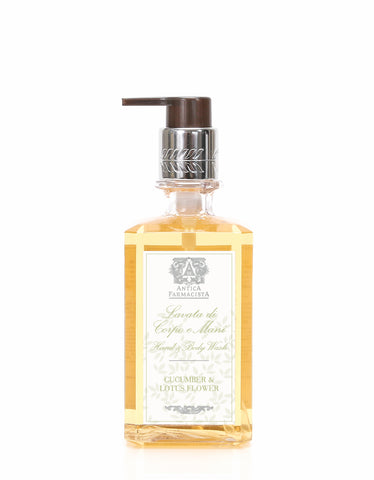 ANTICA FARMACISTA - 10 OZ HAND & BODY WASH CUCUMBER & LOTUS FLOWER