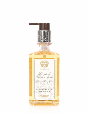 ANTICA FARMACISTA - 10 OZ HAND & BODY WASH DAMASCENA ROSE, ORRIS & OUD