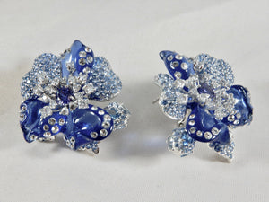 Flower Resin 925 Sterling Silver Earrings