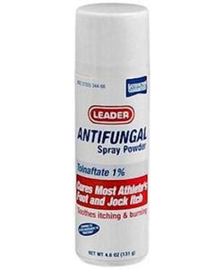 Leader Antifungal Foot/Jock Powder Spray, 1%, 4.6oz