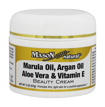 Mason  Marula Oil, Argan Oil Aloe Vera & Vitamin E Beauty Cream 2 oz