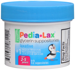 Fleet Pedia-Lax Glycerin Suppositories 12 Each (1 Pack)