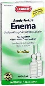 Leader  Enema Saline Laxative Twin Pack