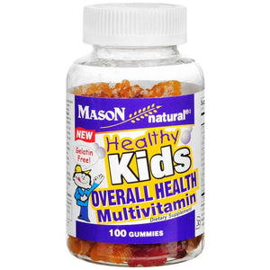 Mason Natural Health Kids Multivitamin Dietary Supplement Gummies, 100 Count