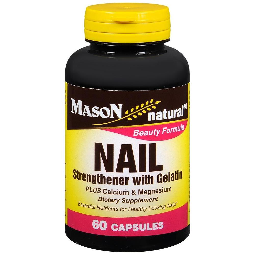 Mason Natural Nail Strengthener with Gelatin Capsules, 60 Capsules