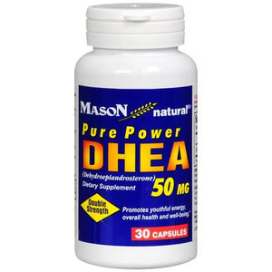 Mason Natural Pure Power DHEA 50 mg Capsules, 30 Capsules