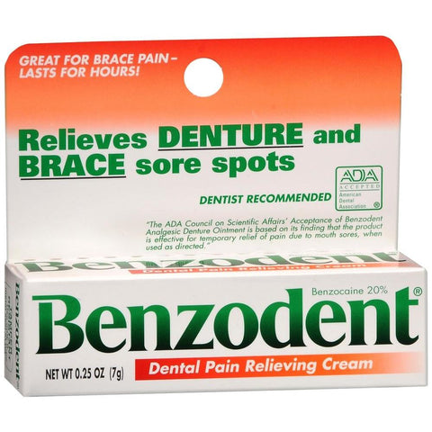 Benzodent Dental Pain Relieving Cream