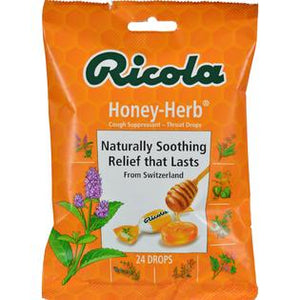 Ricola Herb Throat Drops Honey Herb - 24 Drops