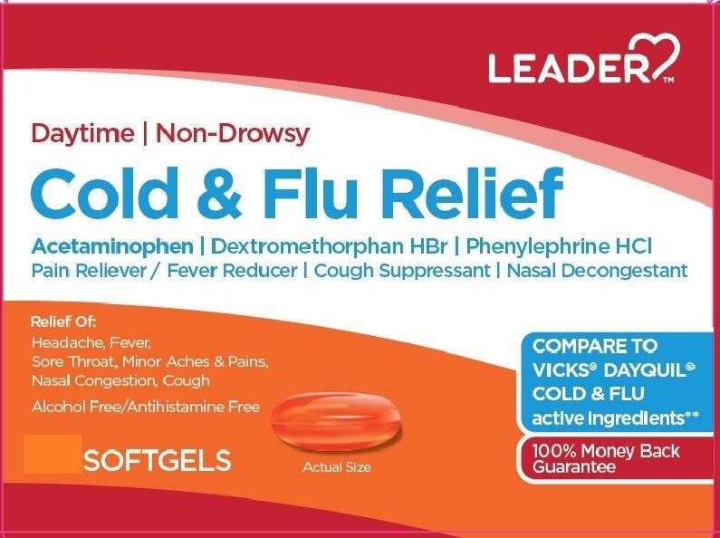 Leader Daytime Cold & Flu Relief Softgels 16ct